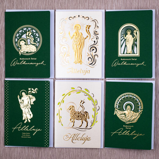 kartki świąteczne wielkanocne zestaw 4-1