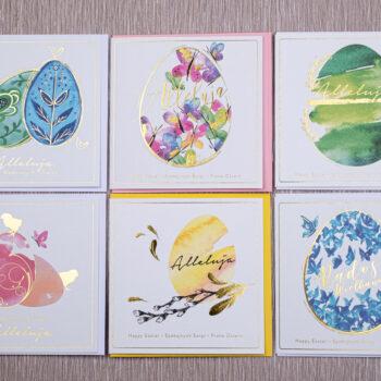 Kartki świąteczne wielkanocne zestaw 6-2