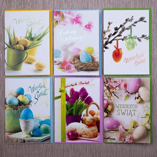 kartki świąteczne wielkanocne zestaw 6-1