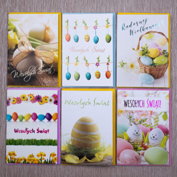 kartki świąteczne wielkanocne zestaw 7-1