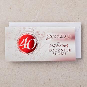 zaproszenie rocznica ślubu 40 zrs-0240