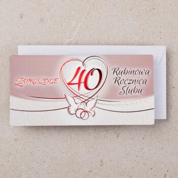 zaproszenie rocznica ślubu 40 zrs-0340