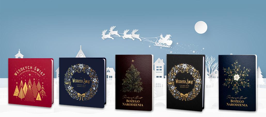 kartki bożonarodzeniowe Art Nuvo