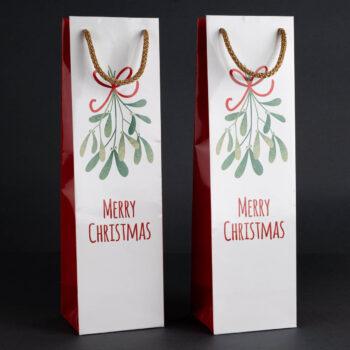 Torebka świąteczna na wino TB-01 1