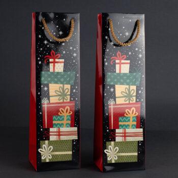 Torebka świąteczna na wino TB-02 1