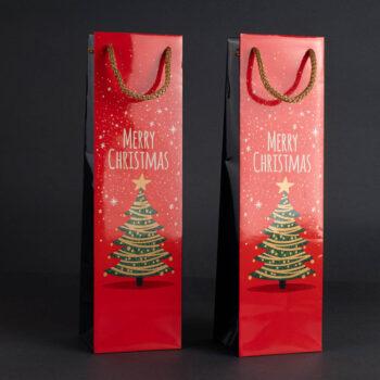 Torebka świąteczna na wino TB-03 1