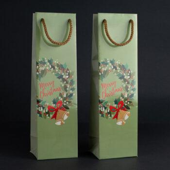 Torebka świąteczna na wino TB-04 1