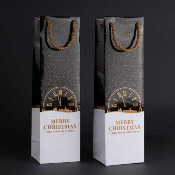 Torebka świąteczna na wino TB-05 1
