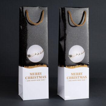 Torebka świąteczna na wino TB-06 1