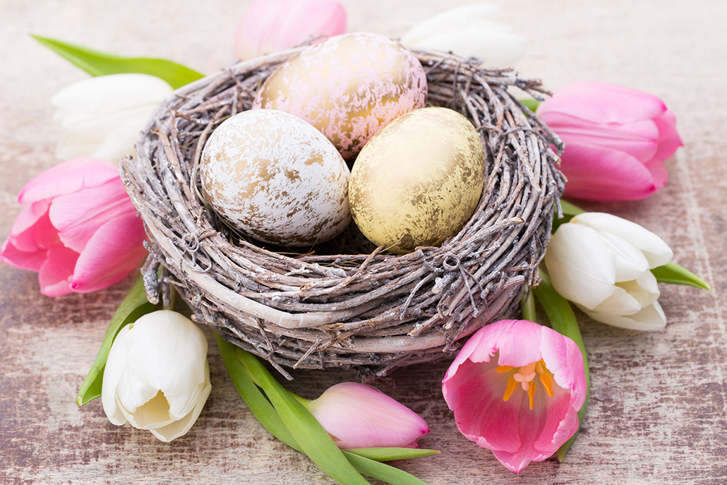 Wielkanocne dekoracje tulipany